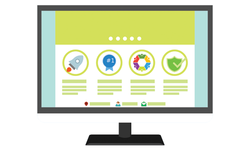 Illustration of a website design showing Atlanta web design agency SkyCastle Productions can build websites for small business