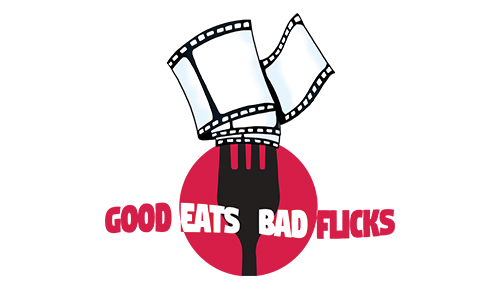 Good Eats Bad Flicks logo by Atlanta graphic design agency SkyCastle Productions