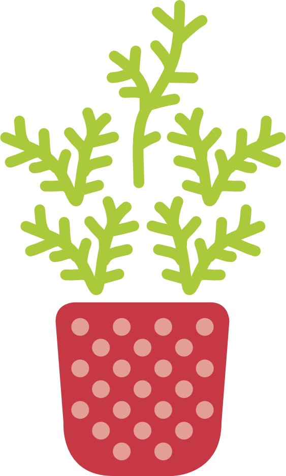 An illustration of a potted plant to represent how Atlanta visual media agency SkyCastle Productions will help grow your business