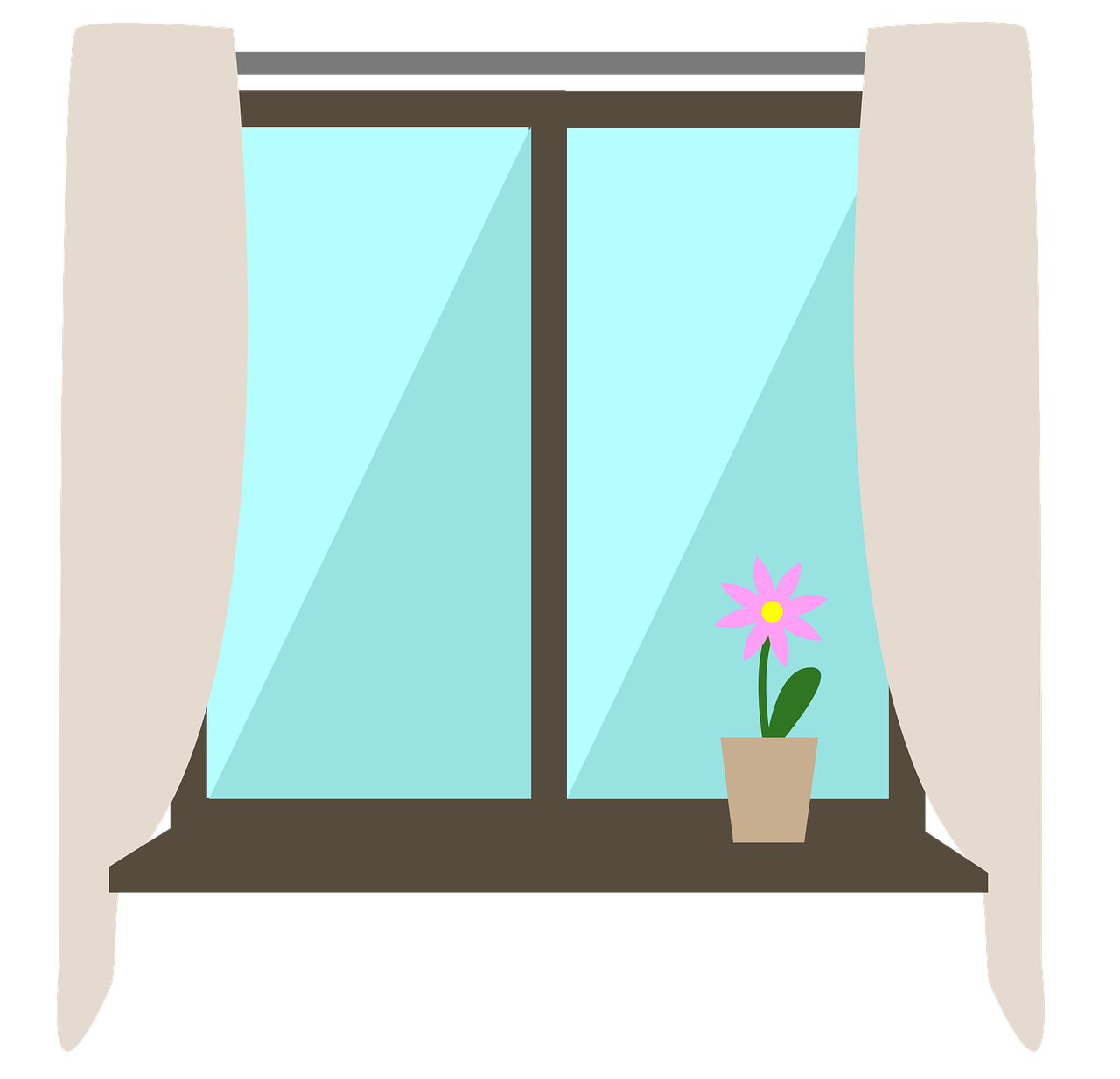 A window illustration to represent how Atlanta visual media company SkyCastle productions provides transparent pricing for websites and social media design