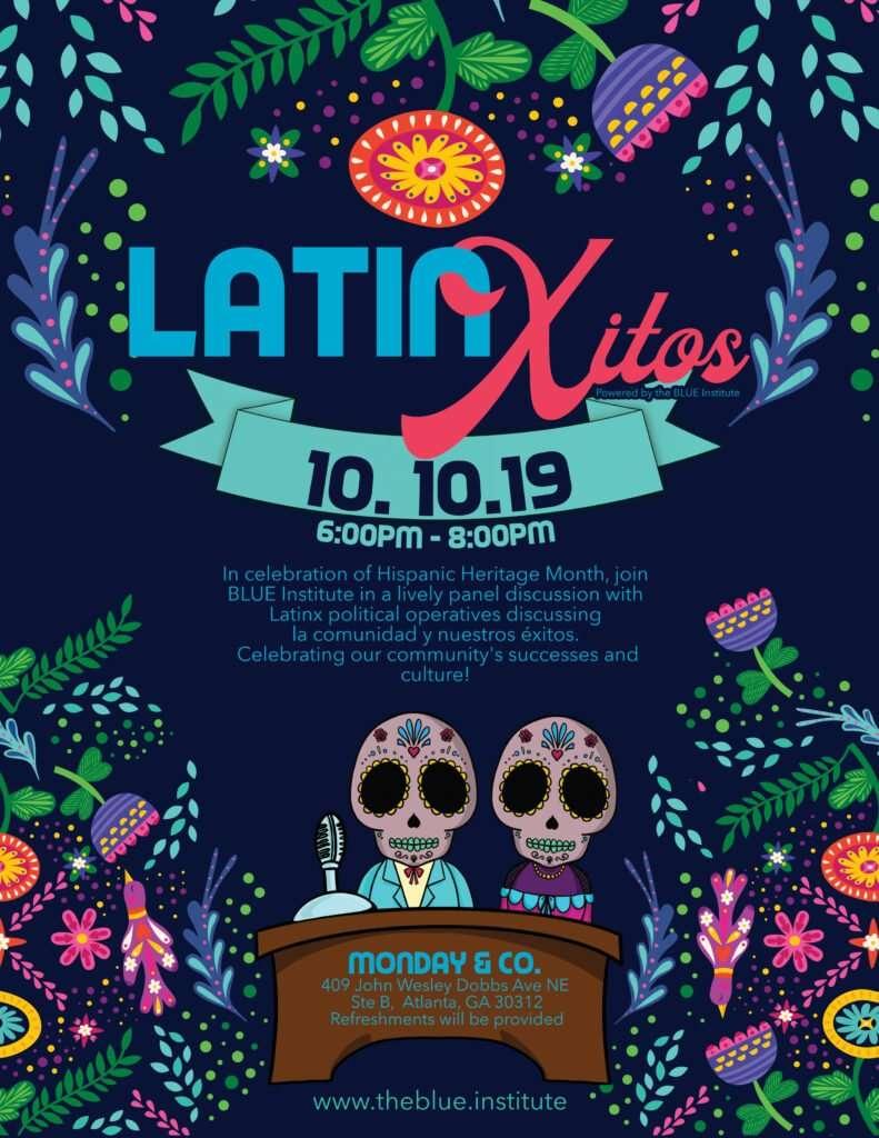 LatinXitos flyer with logo by Atlanta graphic design agency SkyCastle Productions