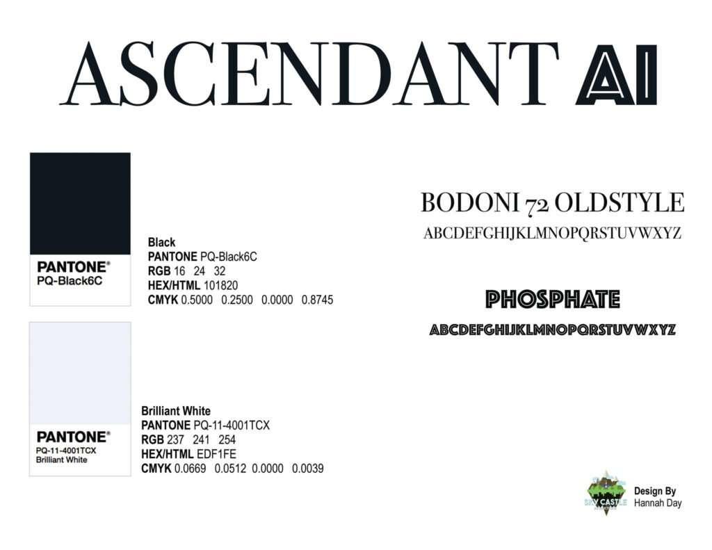 Ascendant AI logo by Atlanta graphic design agency SkyCastle Productions