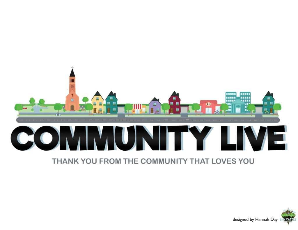 Community Live logo by Atlanta graphic design agency SkyCastle Productions