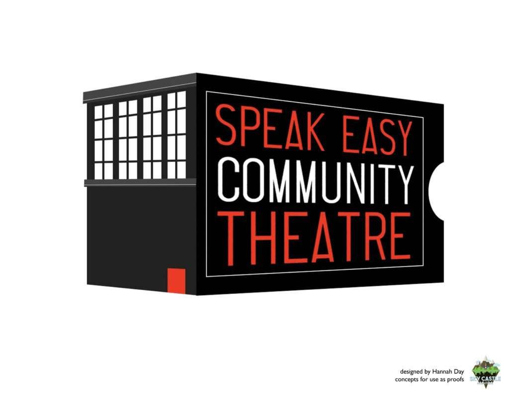 Speak Easy Community Theatre logo by Atlanta graphic design agency SkyCastle Productions