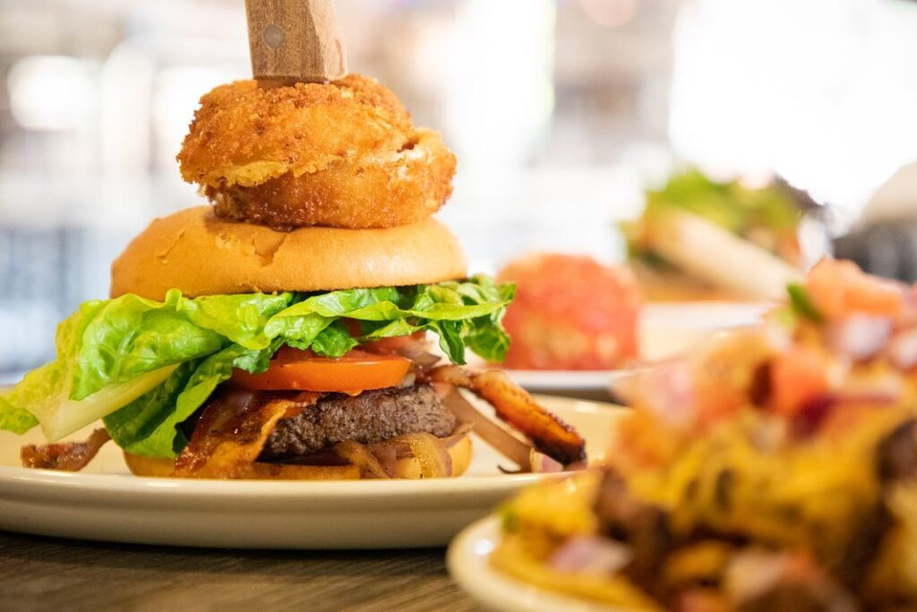 A photo of a hamburger taken by SkyCastle Productions Photographer William Twitty