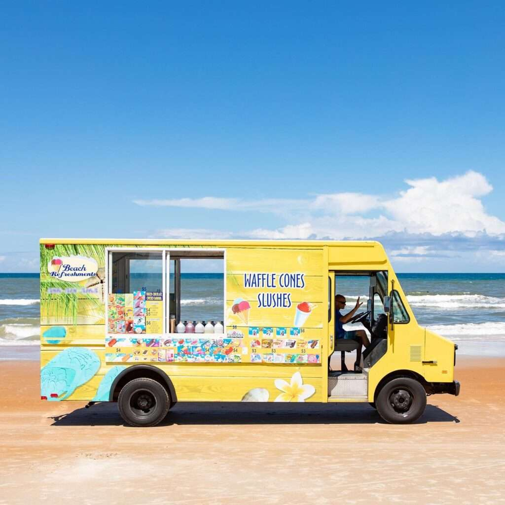 A photo of an icecream truck taken by SkyCastle Productions Photographer William Twitty